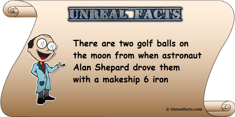 two golf balls on the moon