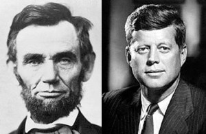 links between president lincoln and kennedy