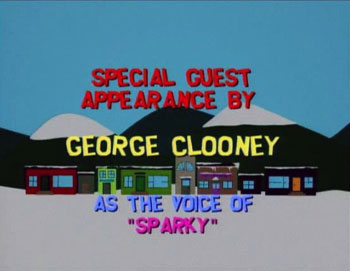 george clooney south park stans dog sparky