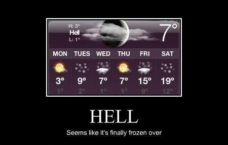 hell freezes over norway