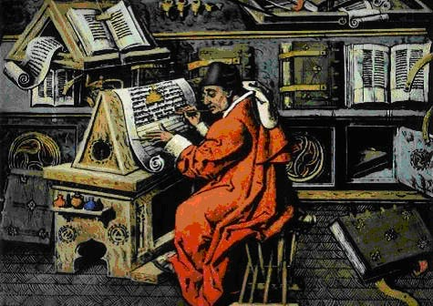 medieval monks copying books