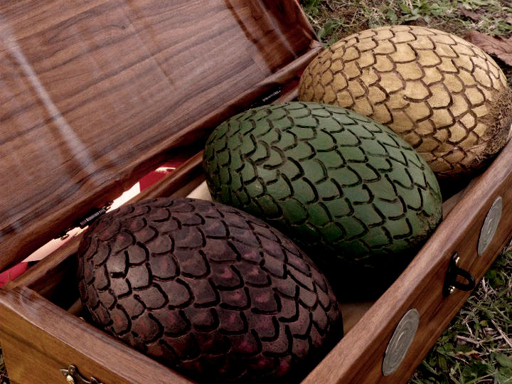 George R R Martin got a dragon egg from the set as a wedding gift
