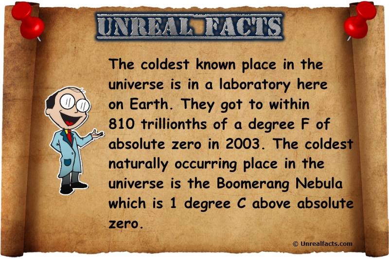 coldest known place in the universe