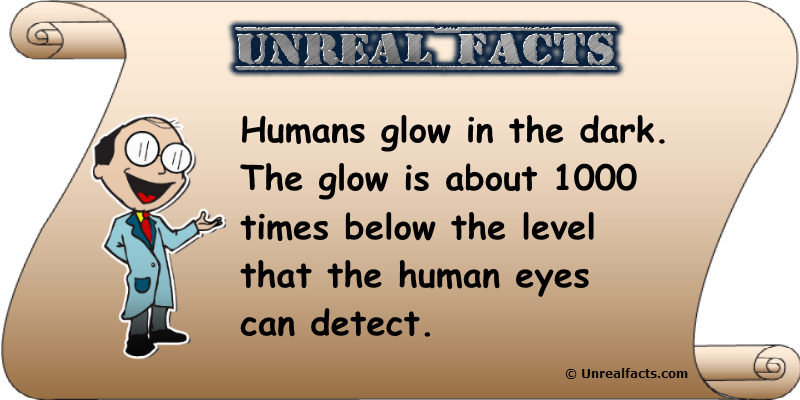 humans glow in the dark