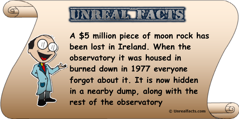 moon rock lost in ireland