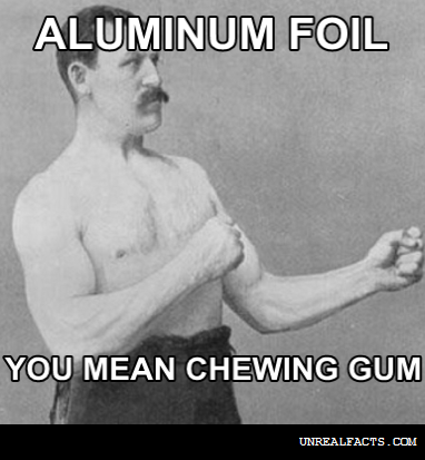 why does chewing aluminum foil hurt