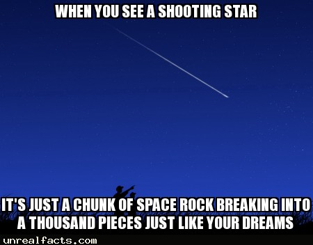 shooting star astronaut poop