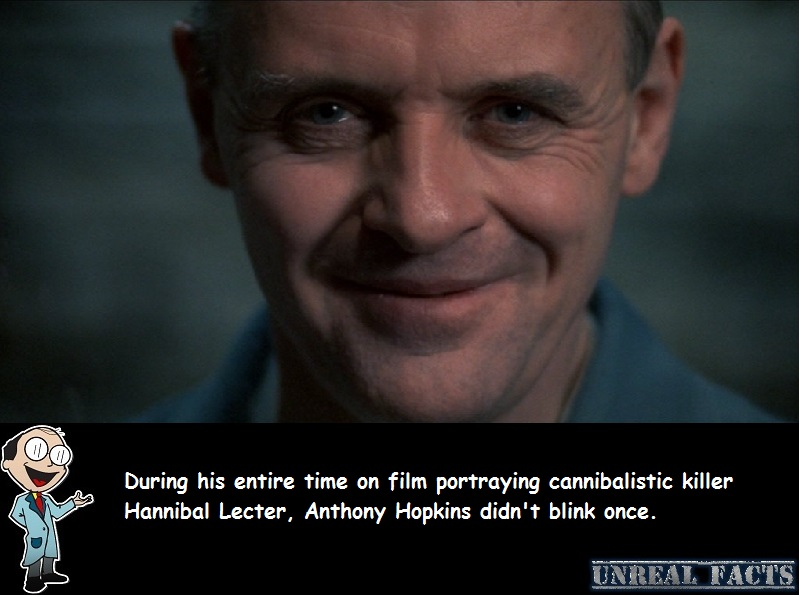anthony hopkins doesn't blink silence of the lambs