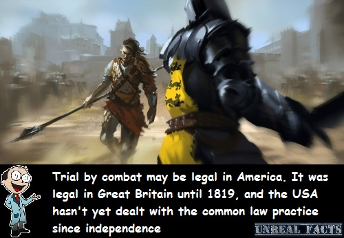 trial by combat still legal