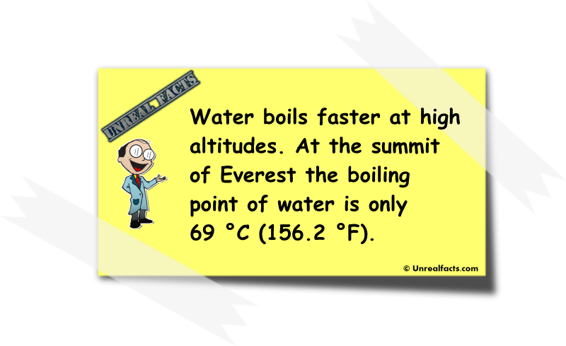 water boils faster at high altitude