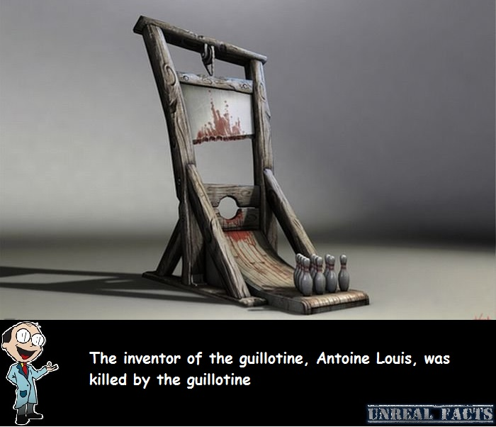 how did the inventor of the guillotine die