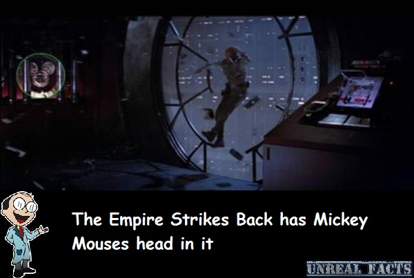 mickey mouse head in empire strikes back