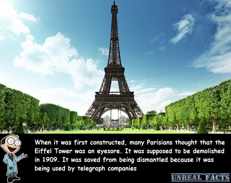 why wasn't the eiffel tower torn down