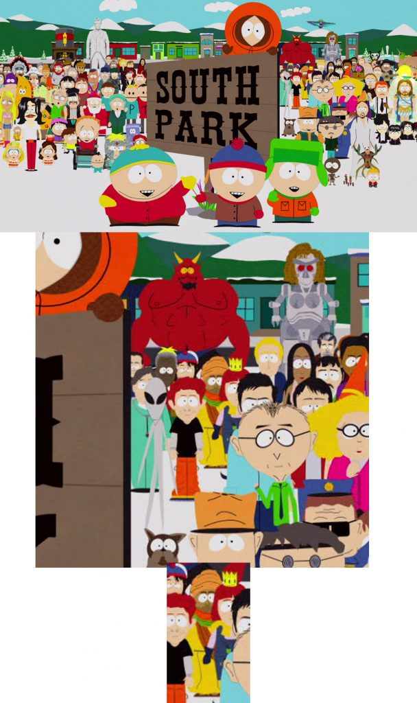 muhammad in south park opening credits