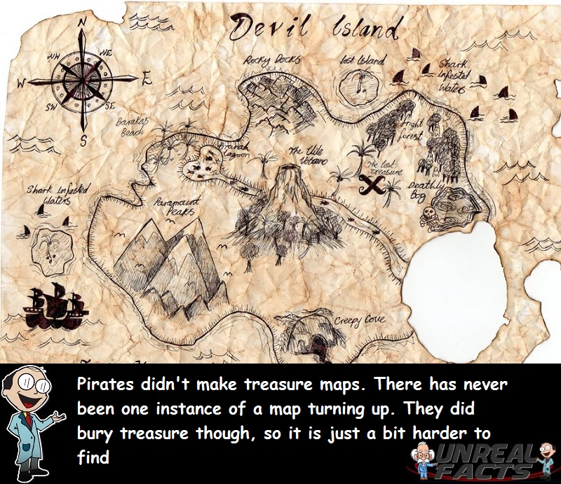Real Pirate Treasure Maps Have Never Existed - Unreal Facts on authentic treasure chests, bahamas 1500s maps, decorating with maps, authentic games, authentic diamonds, civil war camp location maps, printable pirate maps,
