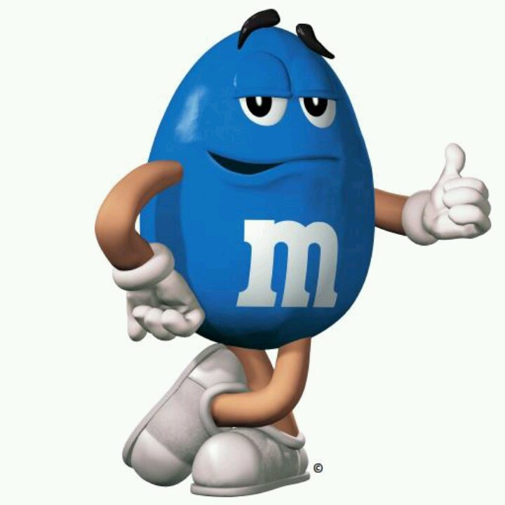 blue m and m