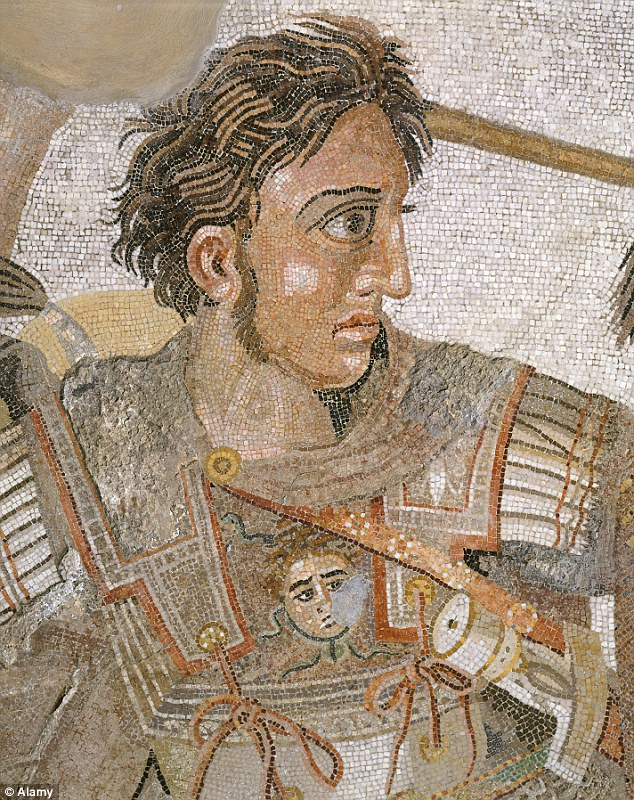 what color eyes did alexander the great have